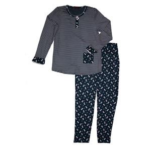 Pijama niña azul marino tacto pétalo