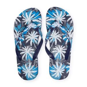 Chanclas azules palmeras Flip Flop Playa o Piscina para hombre o chico